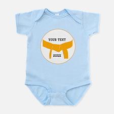 Custom Martial Arts Orange Belt Infant Bodysuit