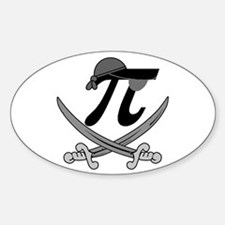 Pi - Rate Greyscale Sticker (Oval)