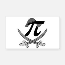 Pi - Rate Greyscale Rectangle Car Magnet