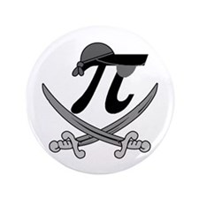 """Pi - Rate Greyscale 3.5"""" Button (100 pack)"""