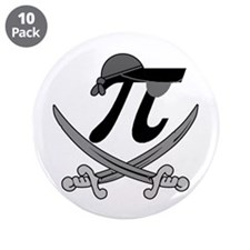 "Pi - Rate Greyscale 3.5"" Button (10 pack)"