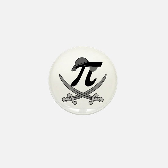 Pi - Rate Greyscale Mini Button