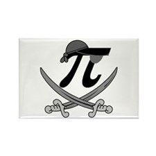 Pi - Rate Greyscale Rectangle Magnet (10 pack)