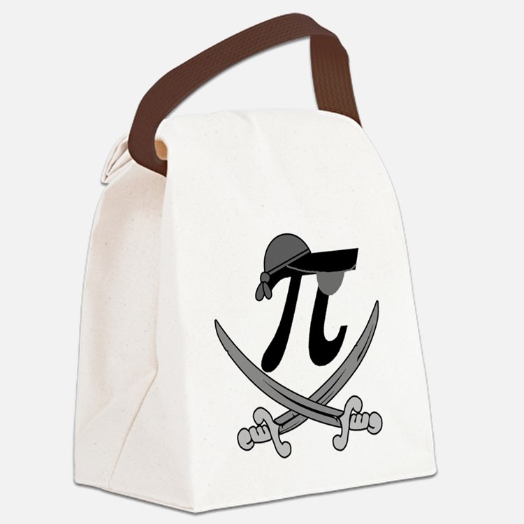 Pi - Rate Greyscale Canvas Lunch Bag