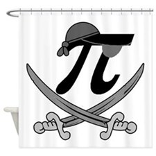 Pi - Rate Greyscale Shower Curtain
