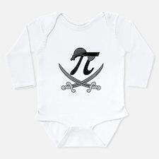 Pi - Rate Greyscale Long Sleeve Infant Bodysuit