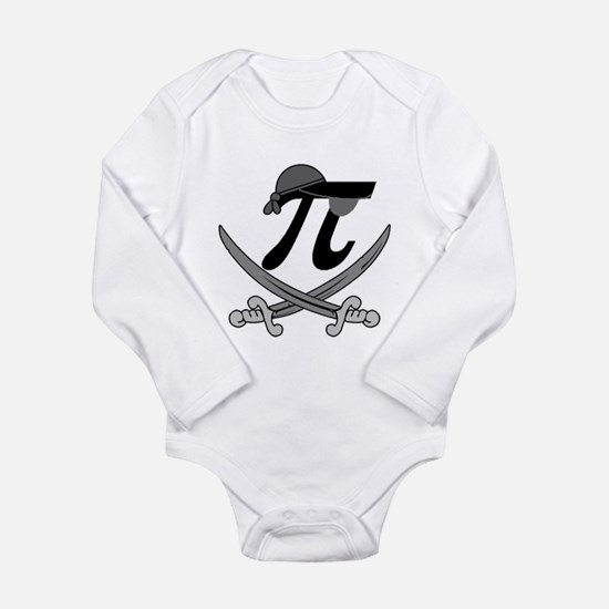 Pi - Rate Greyscale Long Sleeve Infant Bodysuit