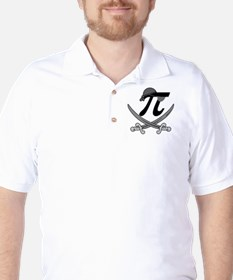 Pi - Rate Greyscale Golf Shirt