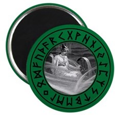 "Frigg Rune Shield 2.25"" Magnet (100 pack)"