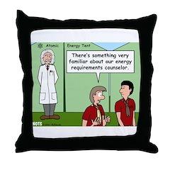 Atomic Energy Throw Pillow