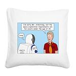 Space Exploration Square Canvas Pillow