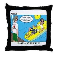 Smile Swim Throw Pillow