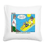 Smile Swim Square Canvas Pillow