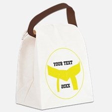 Custom Martial Arts Yellow Belt Canvas Lunch Bag