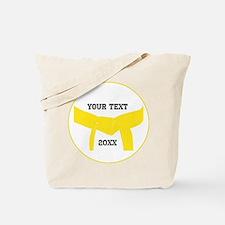 Custom Martial Arts Yellow Belt Tote Bag