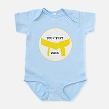 Custom Martial Arts Yellow Belt Infant Bodysuit