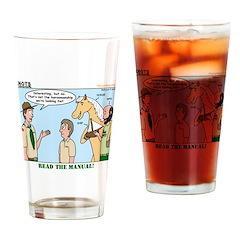 Horsemanship Drinking Glass