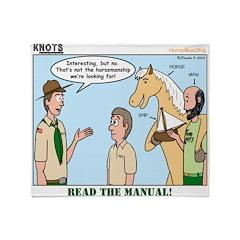 Horsemanship Throw Blanket