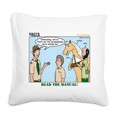 Horsemanship Square Canvas Pillow