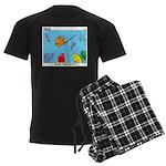 Hooked on Scouts Men's Dark Pajamas