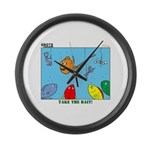 Hooked on Scouts Large Wall Clock