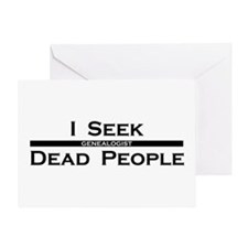 I Seek Dead People Greeting Card