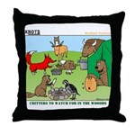 Woodland Critters Throw Pillow