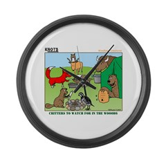 Woodland Critters Large Wall Clock