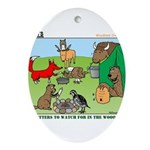 Woodland Critters Ornament (Oval)