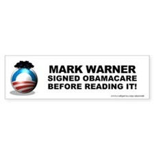 Warner Signed Bumper Sticker