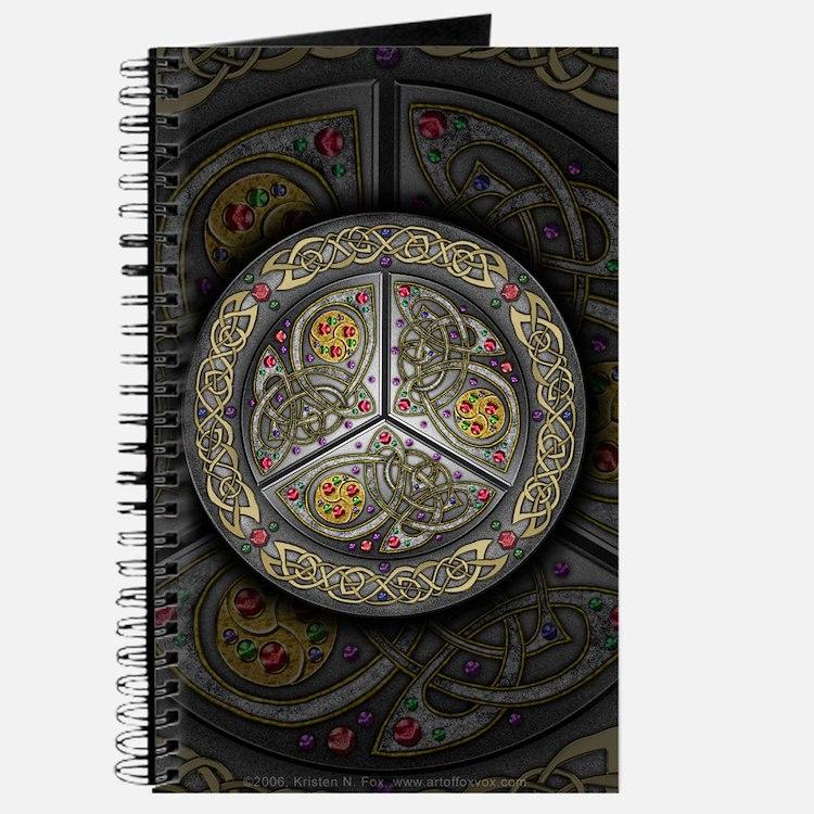 Bejeweled Celtic Shield Journal