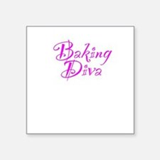 "Baking Diva Square Sticker 3"" x 3"""