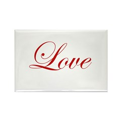 Love Rectangle Magnet (10 pack)