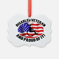 Proud Disabled Veteran Ornament