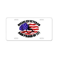 Proud Disabled Veteran Aluminum License Plate