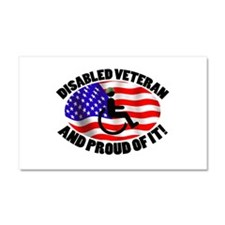 Proud Disabled Veteran Car Magnet 20 x 12