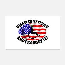 Proud Disabled Veteran Car Magnet 20 x 12