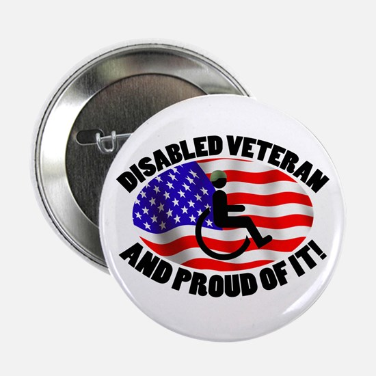 "Proud Disabled Veteran 2.25"" Button"
