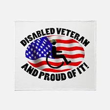 Proud Disabled Veteran Throw Blanket