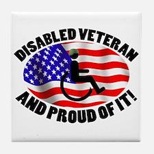 Proud Disabled Veteran Tile Coaster