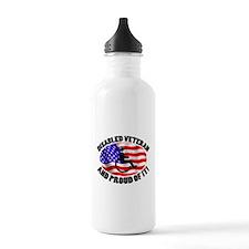 Proud Disabled Veteran Water Bottle