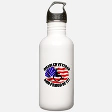 Proud Disabled Veteran Water Bottle