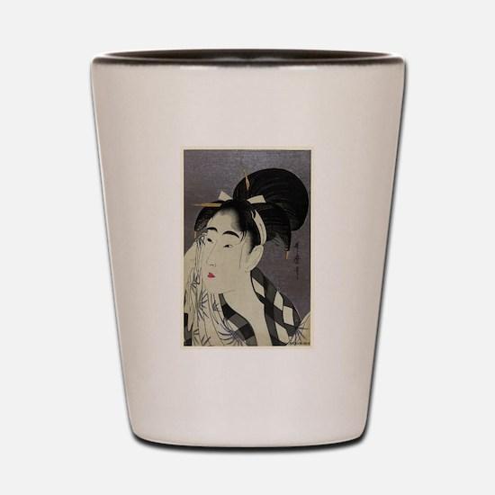 Woman Wiping Sweat - Utamaro Kitagawa - 1798.tif S