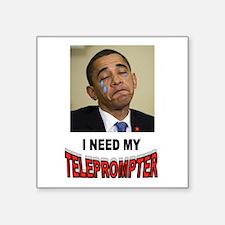 "TELEPROMPTER ADDICT Square Sticker 3"" x 3"""