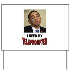 TELEPROMPTER ADDICT Yard Sign