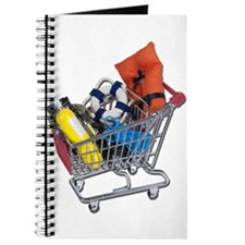 Shopping Cart full of Water Sports Equipment Journ