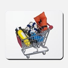 Shopping Cart full of Water Sports Equipment Mouse