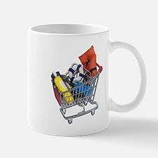 Shopping Cart full of Water Sports Equipment Mug
