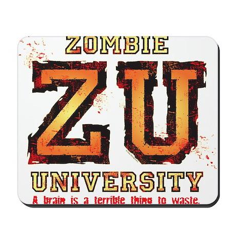 Zombie University dark Mousepad