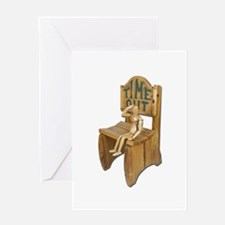 Sitting Timeout Chair Greeting Card